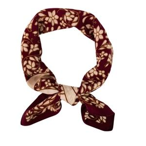 Chanel Silk Scarf in Burgundy 90 cm